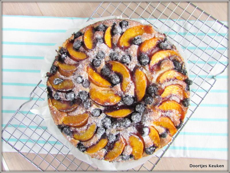 Bosbessen perzikcake