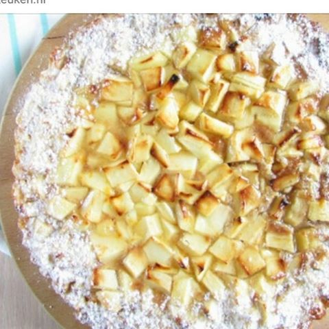 Nieuw recept! Een appelspeculaasflan,  te lekker! Link in profiel :) #Doortjeskeuken