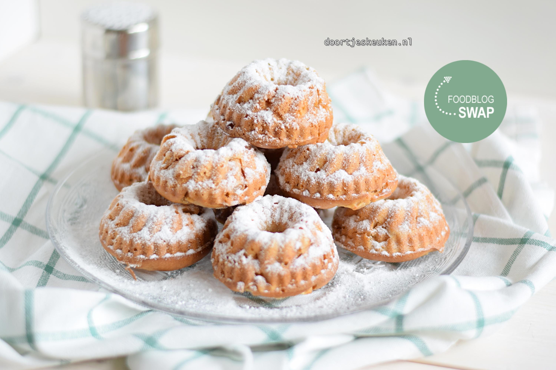 appel-kaneel muffins met Griekse yoghurt