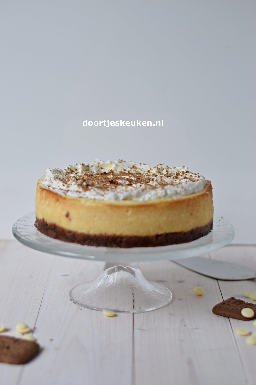 witte chocoladecheesecake
