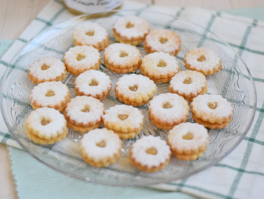 Lemon curd koekjes