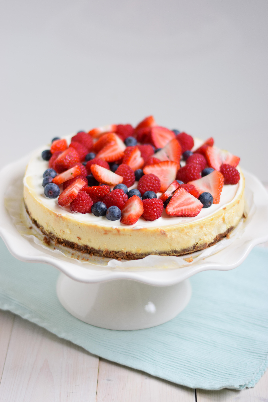 citroen cheesecake met vers fruit