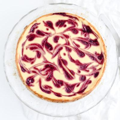 witte chocolade frambozen cheesecake