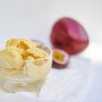 mango passievrucht ijs