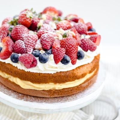 taartje met rood fruit